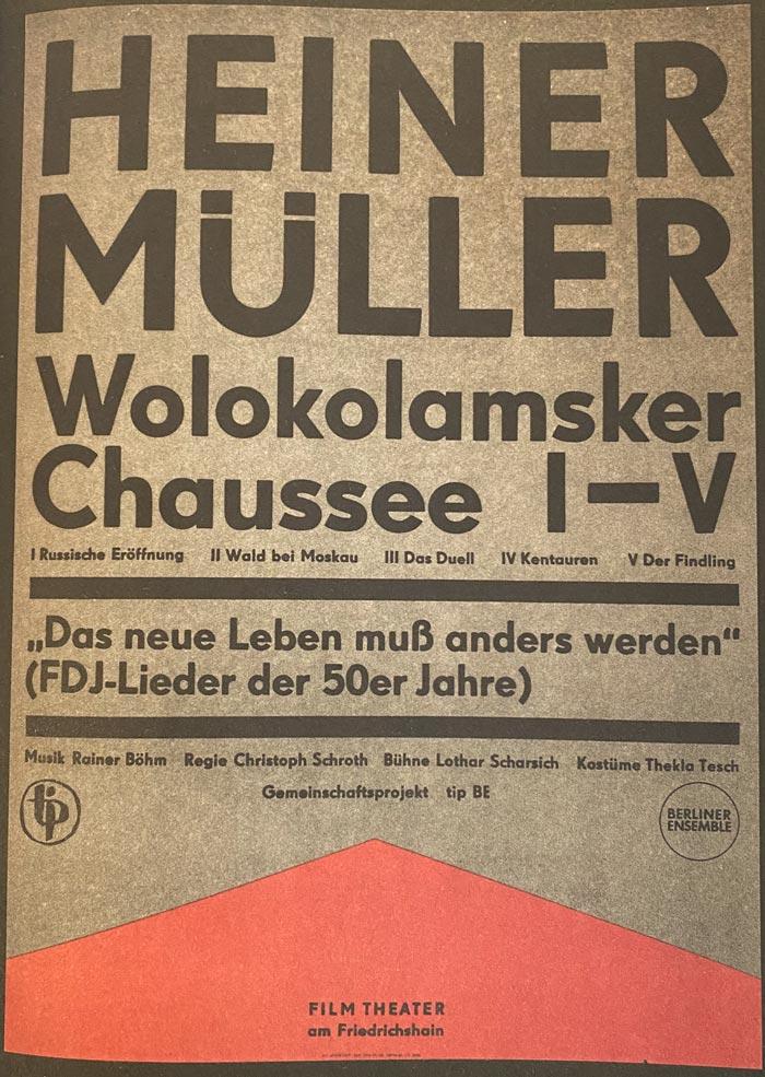 Heiner Muller poster