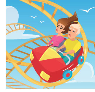 Scared on a roller coaster-Parents PACK newsletter July 2020