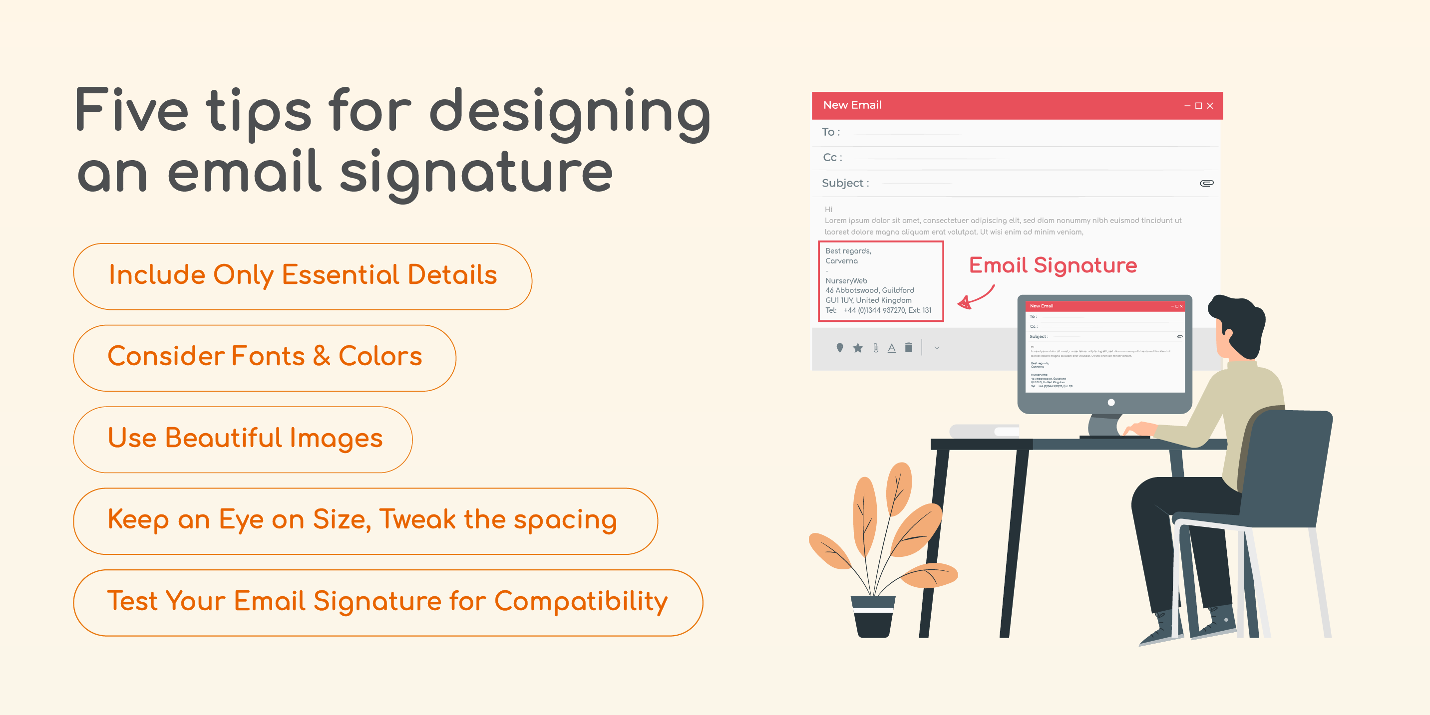 Five tips for designing an email signature