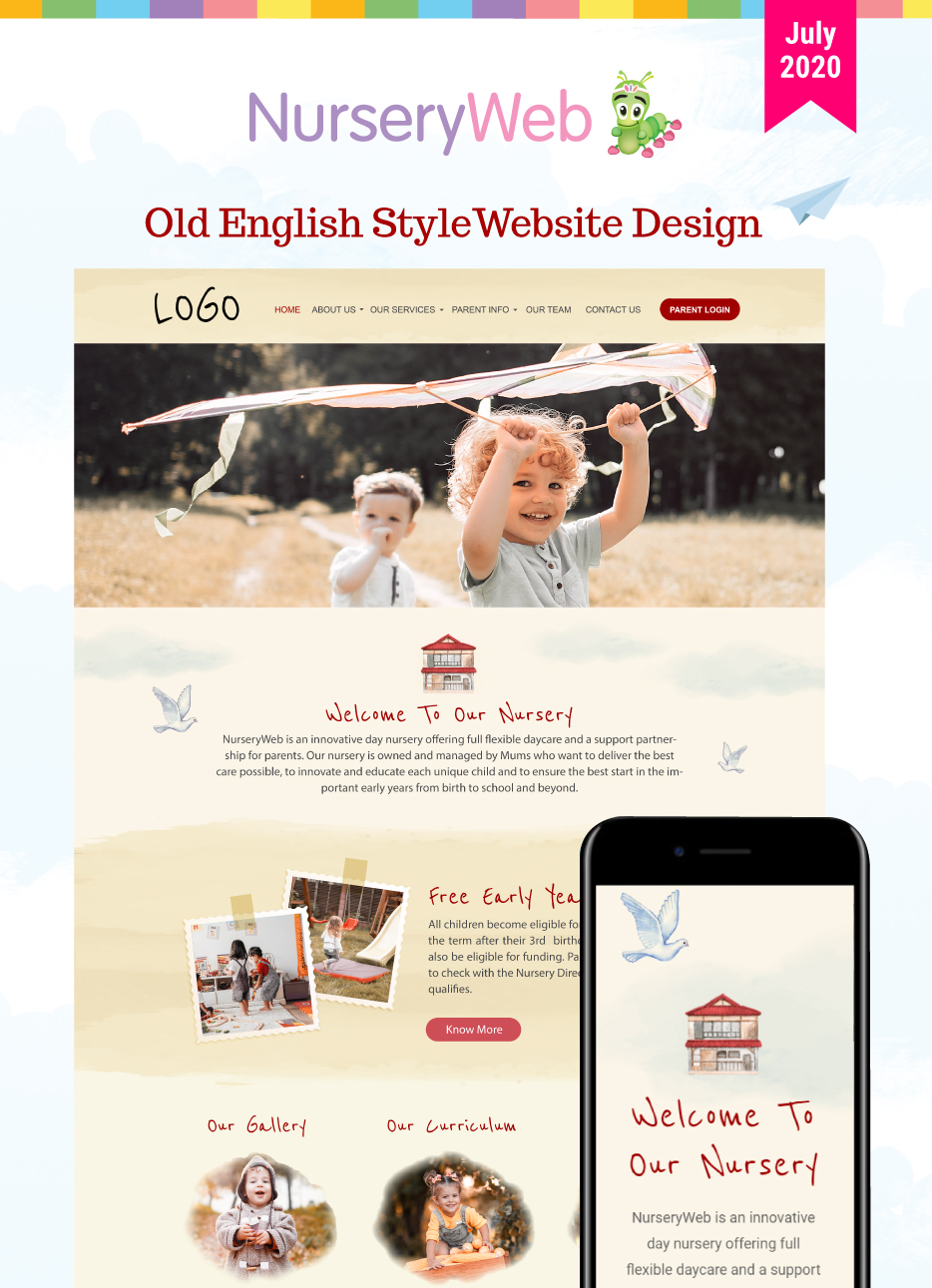 Old English Style Website Design