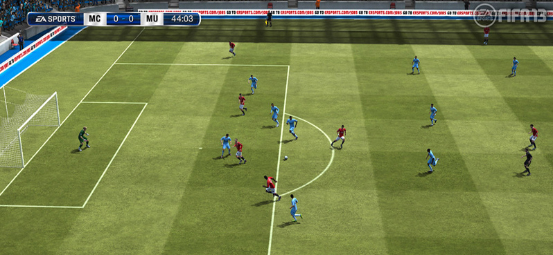 """FIFA 13: Telecam view, Manchester City vs Manchester United"" by EA SPORTS FIFA is licensed with CC BY-NC-ND 2.0. To view a copy of this license, visit https://creativecommons.org/licenses/by-nc-nd/2.0/"