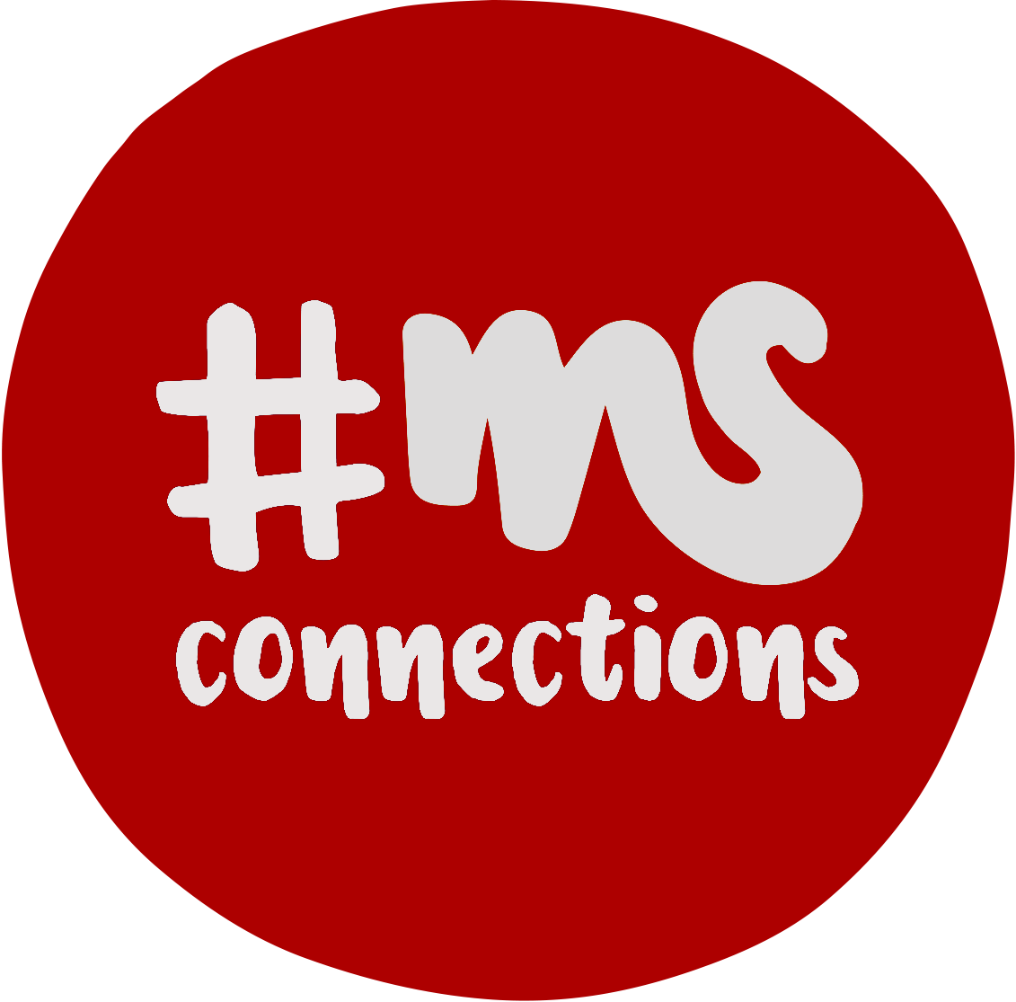 roter Kreis, Text: #MSConnections