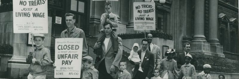 strike image from The Tamiment Library & Robert F. Wagner Labor Archives