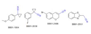 Nitriles (2542 compounds)