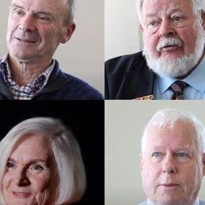 Montage of older people talking
