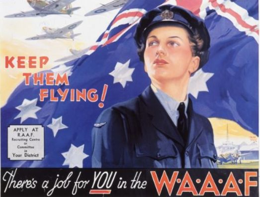 WAAF recruitment poster, World War II