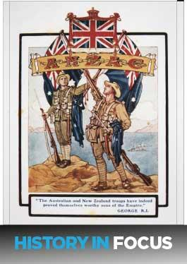 Front of the fact sheet Origins of the Word 'Anzac': History in Focus