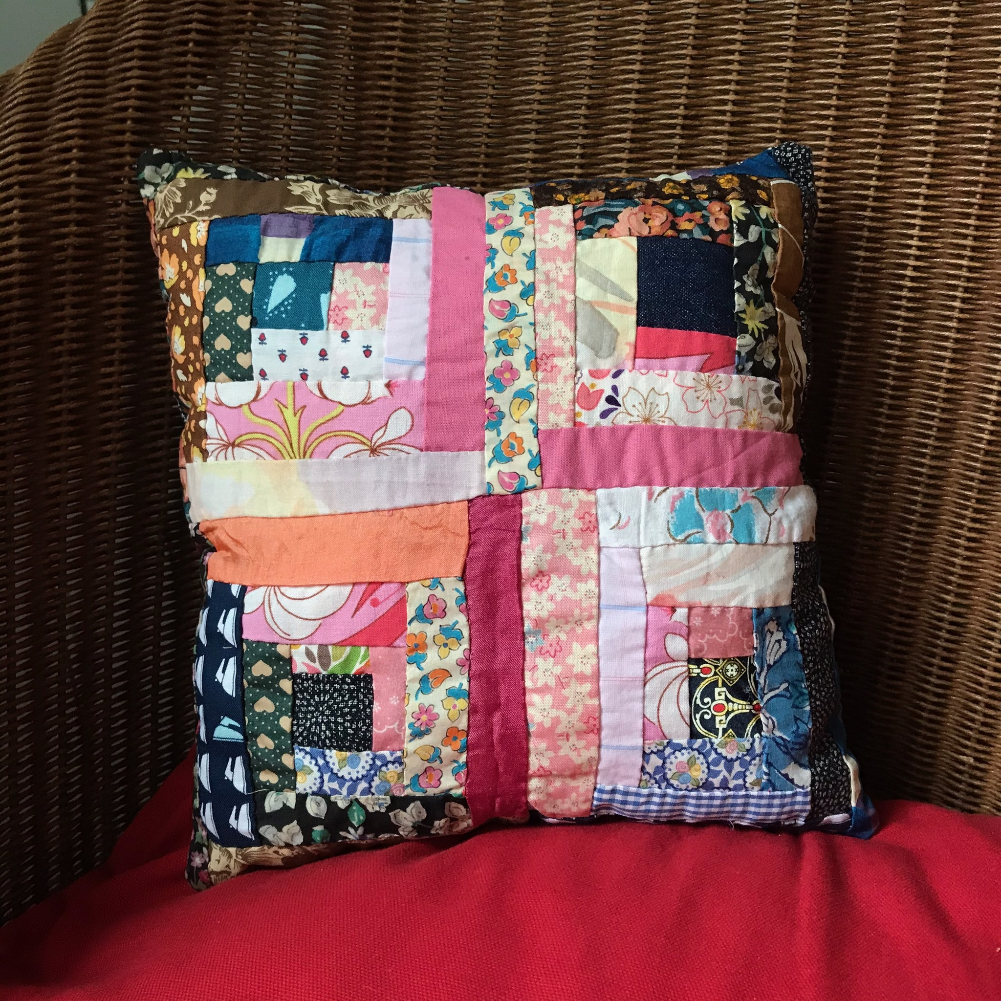 Jeni patchwork cushion