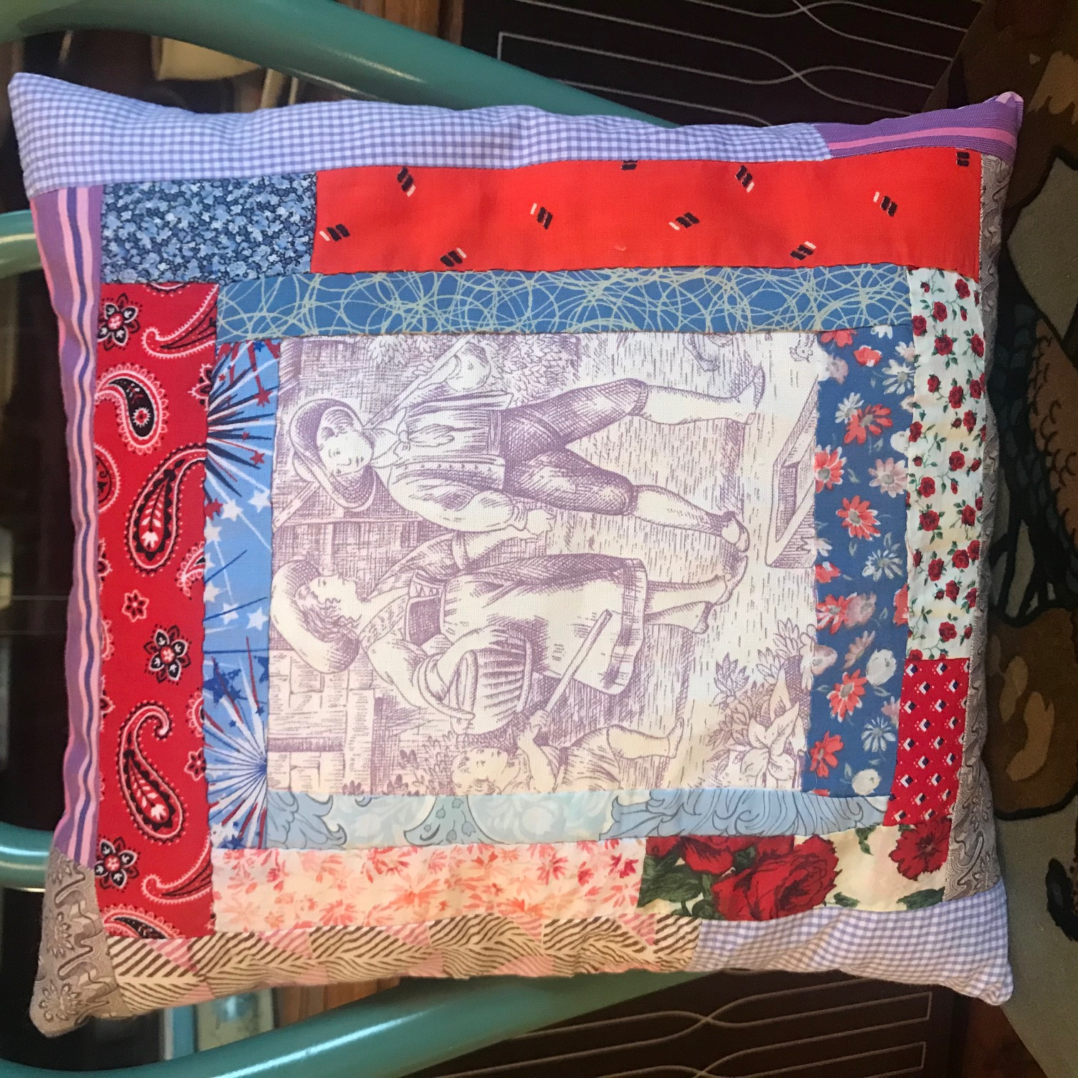 Whole toile pillow