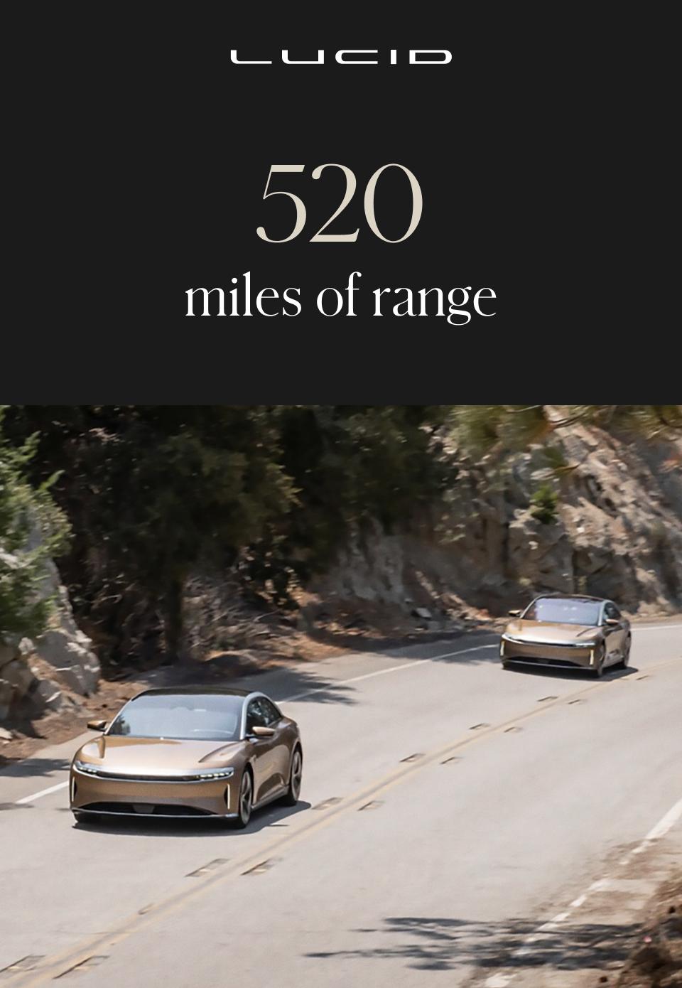 Setting a new standard in EV range.