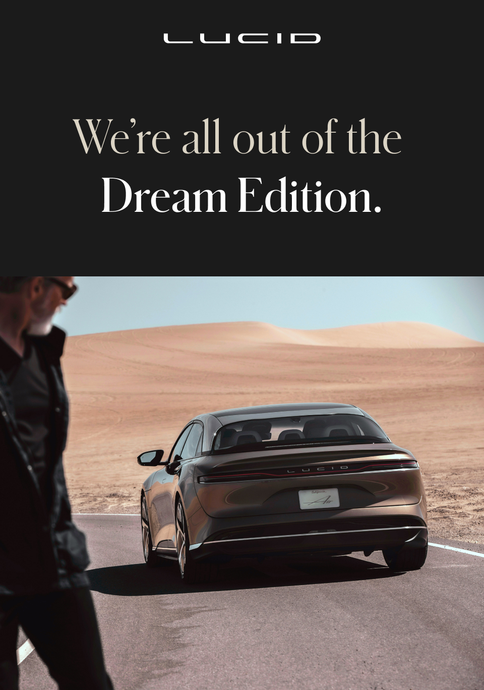 We're all out of the Dream Edition.