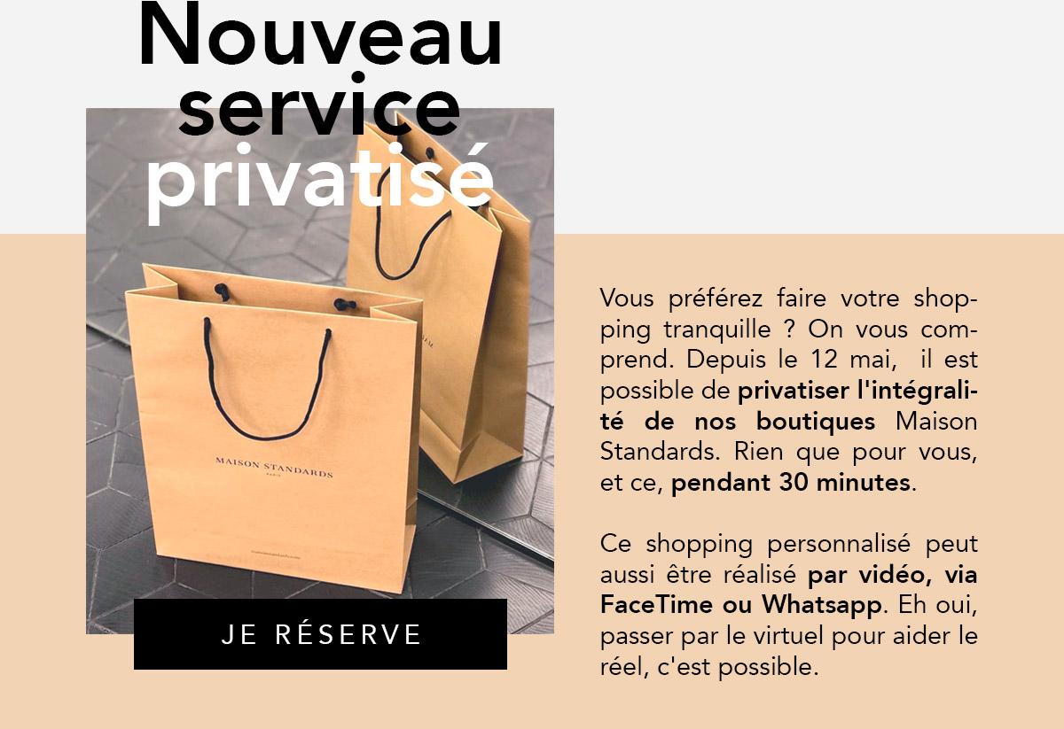 Shopping privatisé - Réservez votre session