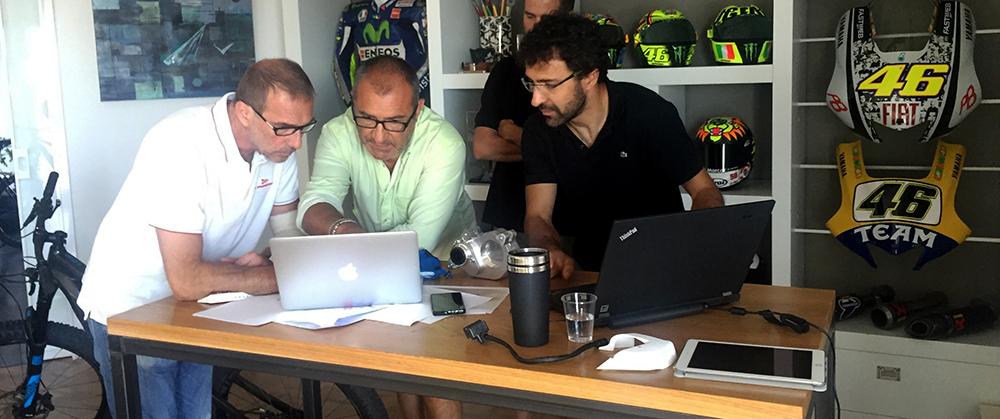 Da sinistra a destra: Livio Suppo, Aldo Drudi e Luca Burzio.