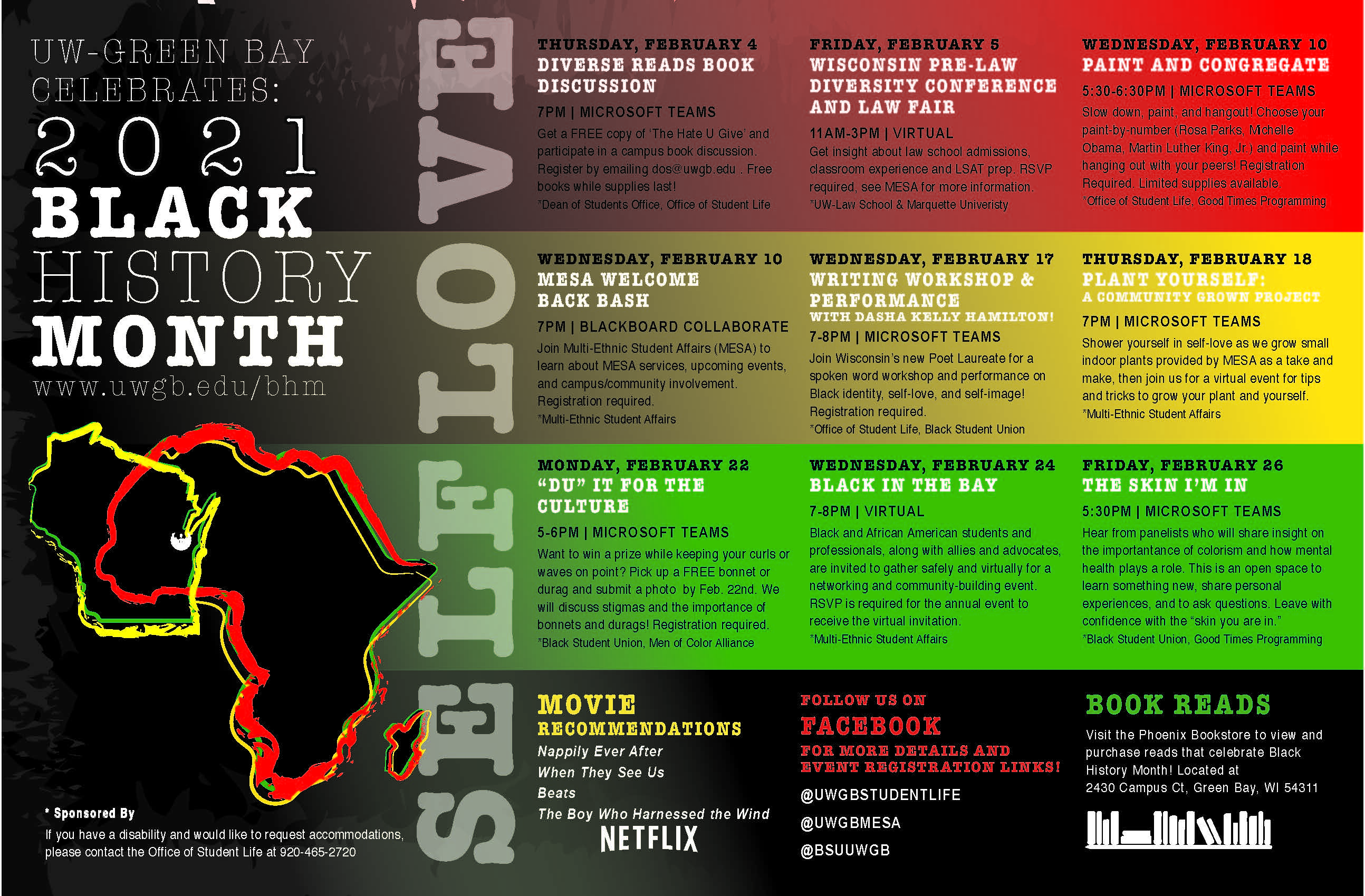 Black History Month UWGB Poster (small)