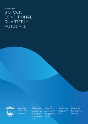 Hilbert 3 stock quarterly autocall