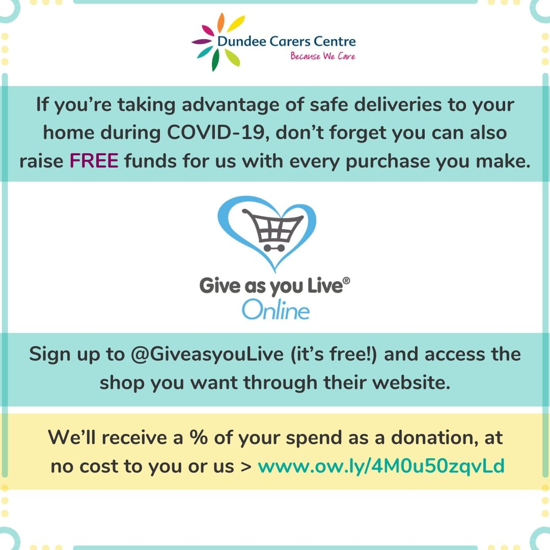 Give as you live for Dundee Carers Centre