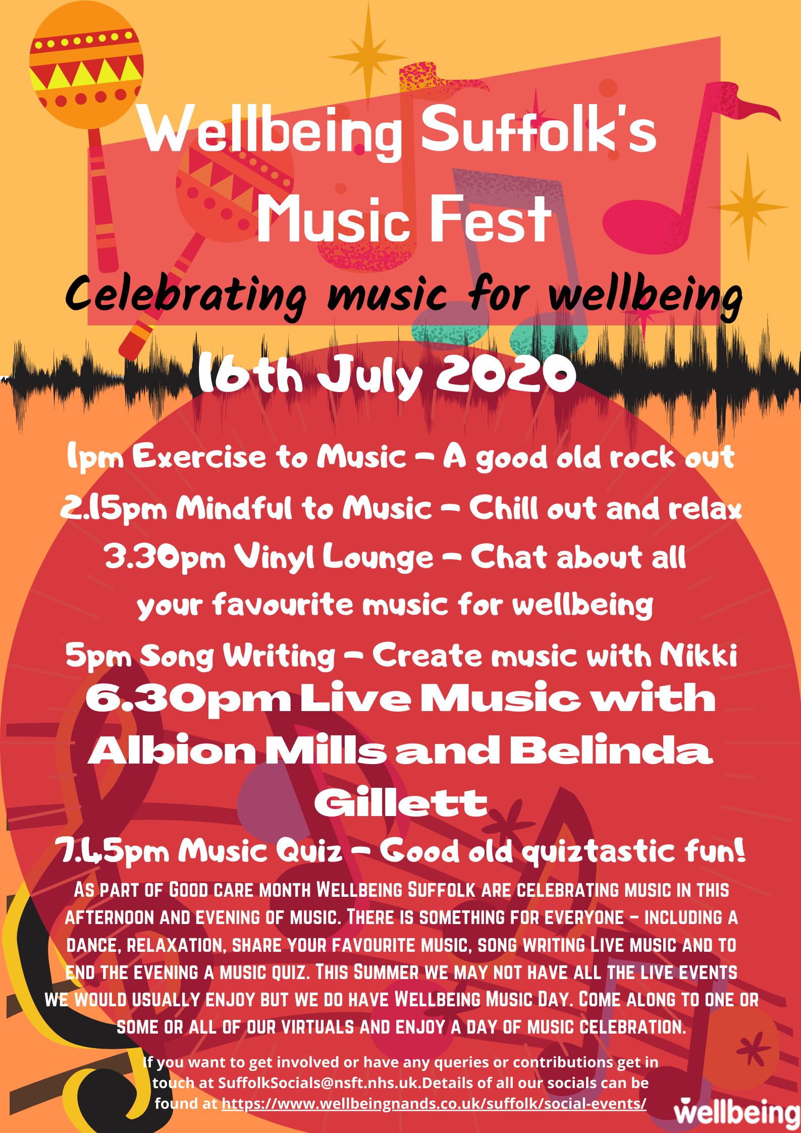 Wellbeing Suffolk's Music Fest