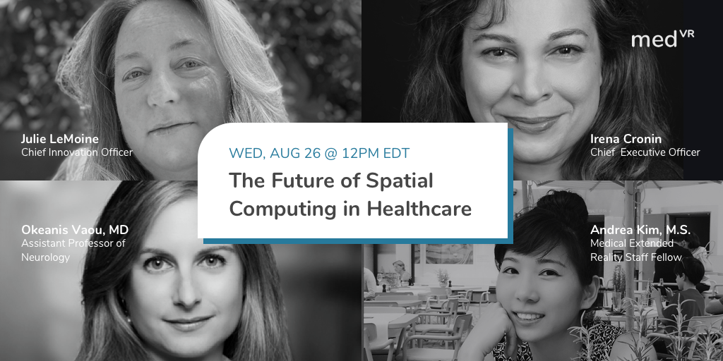 MedVR's next talk: join an Expert panel on Spatial Computing