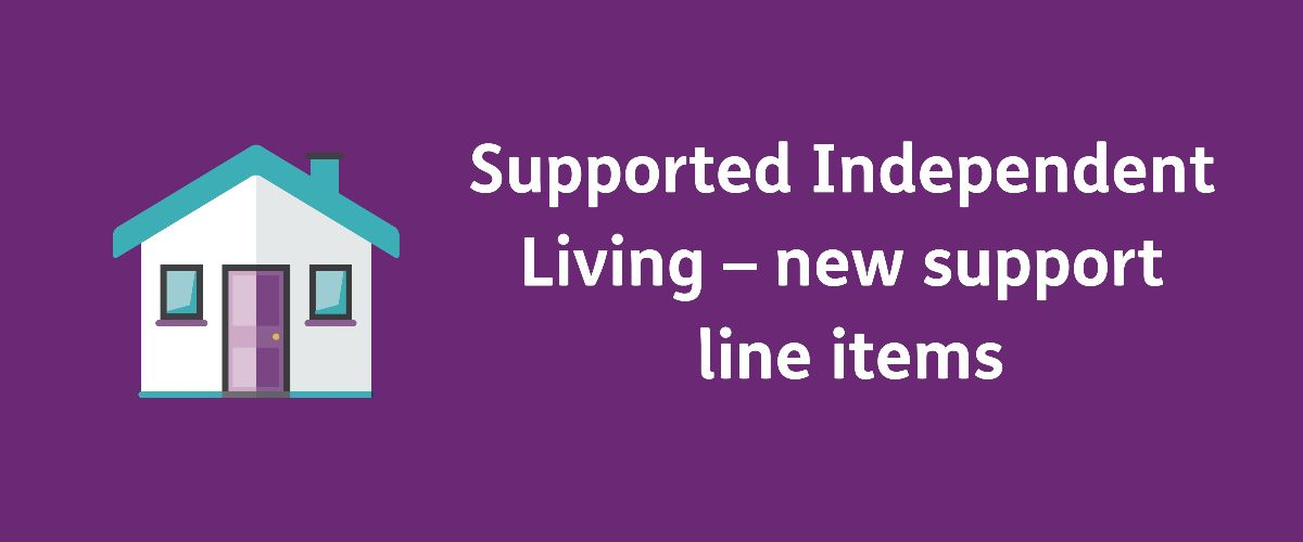 Support Independent Living - new support line items with a cartoon of a house