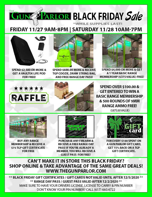 Black Friday Deals at The Gun Parlor