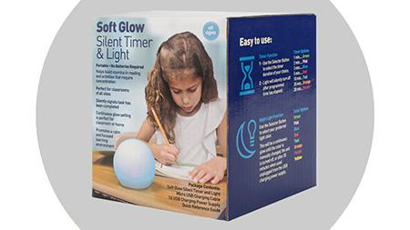 Soft Glow Silent Timer & Light