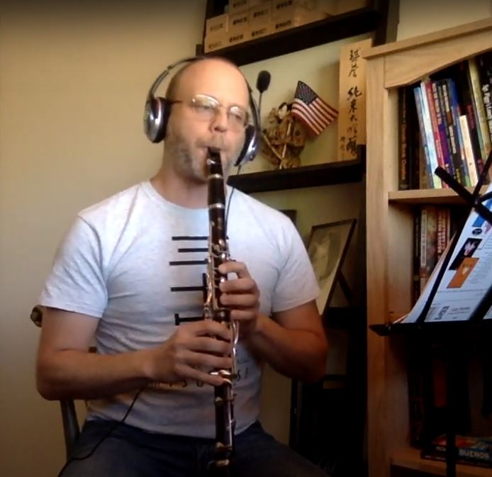 Andrew on clarinet