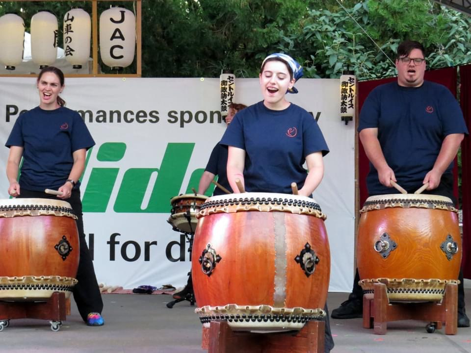 Community group members perform at the Japanese Festival (photo by Joanne Norton)
