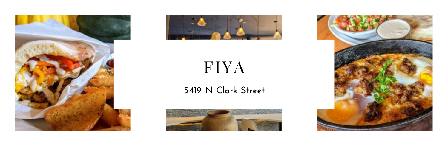 Fiya, 5419 N Clark Street, Photos of pita and sharshuka