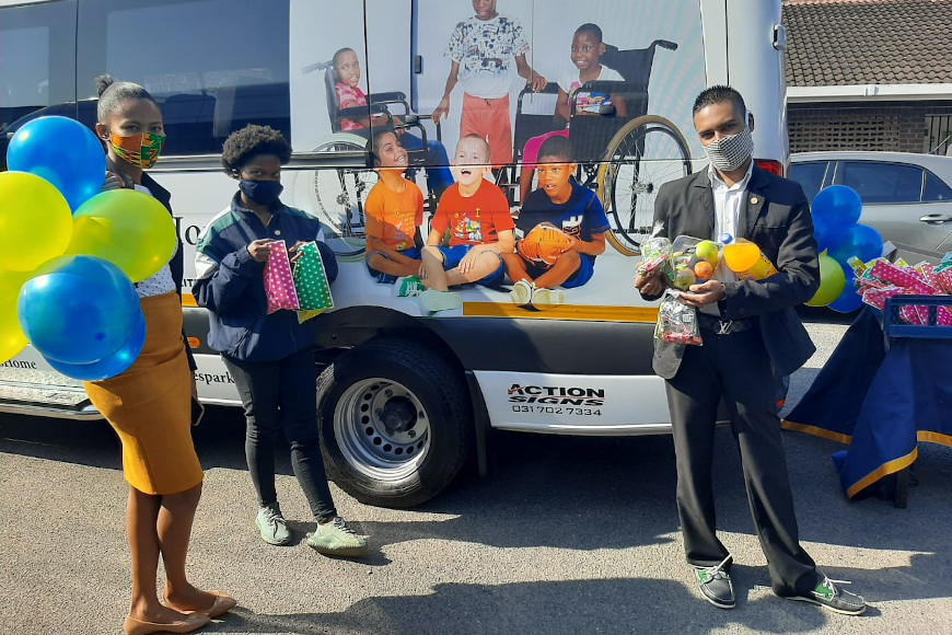 GOLDEN KEY DUT CHAPTER PAMPER CHILDREN LIVING WITH DISABILITIES ON MANDELA DAY
