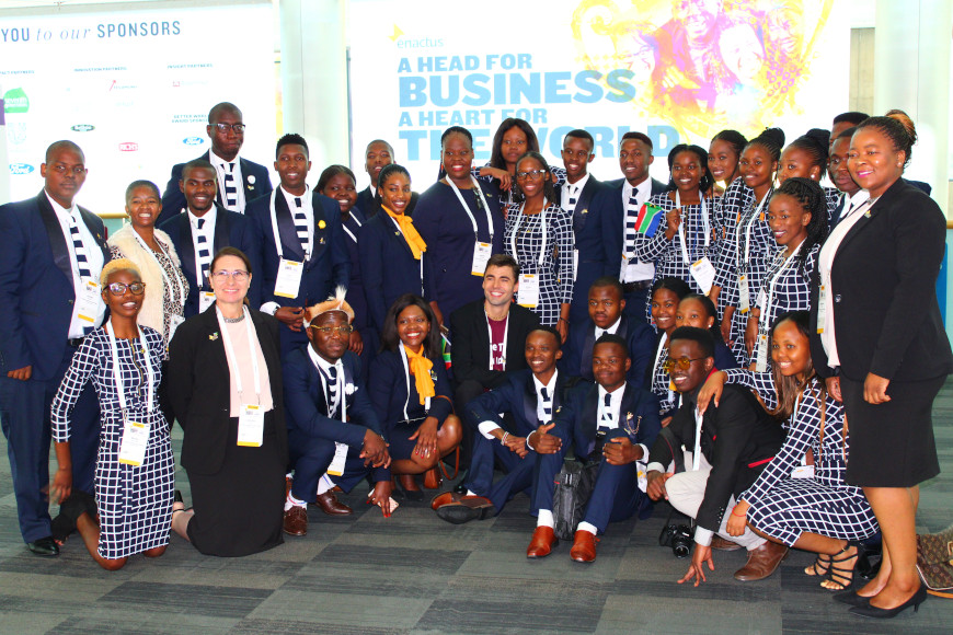 DUT'S ENACTUS TEAM ARE IN THE SEMI-FINALS OF THE ENACTUS SOUTH AFRICA COMPETITION