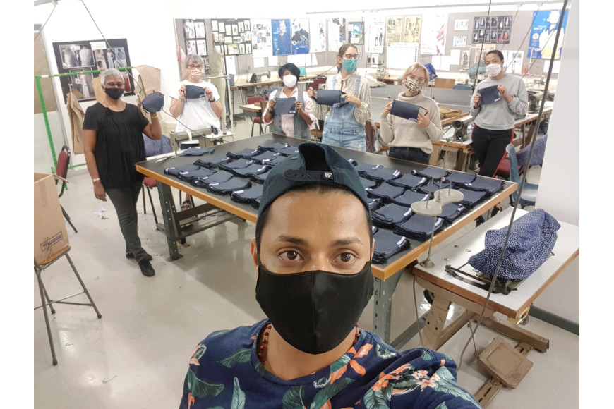 DUT'S FASHION AND TEXTILES DEPARTMENT MAKE FACE MASKS FOR STAFF