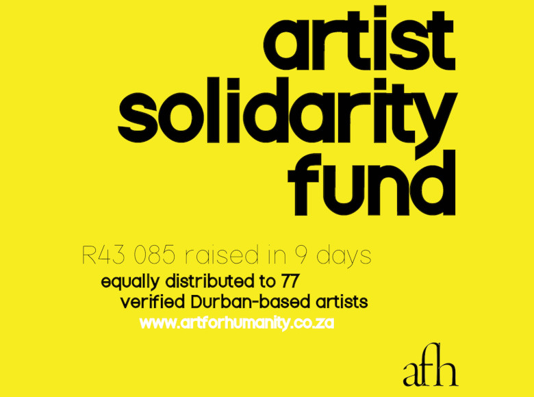 SUPPORT THE CALL TO DONATE TO DUT'S AFH ARTIST SOLIDARITY FUND