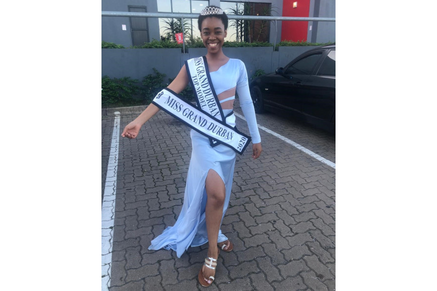 AMAHLE SITHOLE WAS CROWNED MISS DURBAN AND MISS GRAND DURBAN TOP MODEL 2020