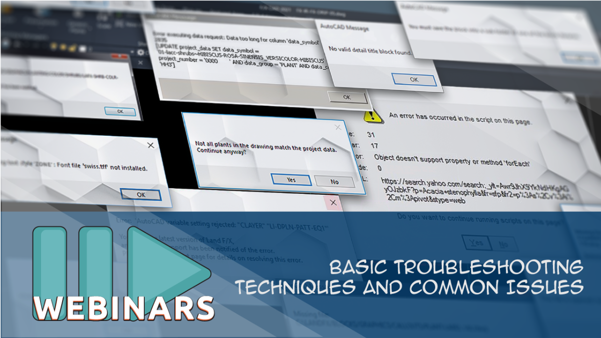 RECORDED WEBINAR:Basic Troubleshooting Techniques and Common Issues