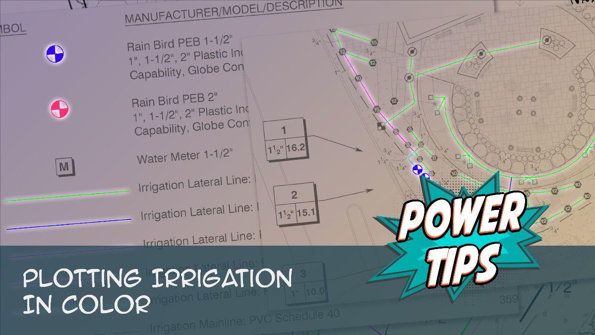 Power Tip: Plotting Irrigation in Color