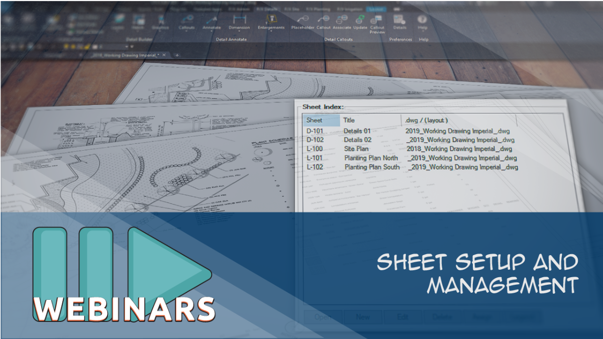 Webinar: Sheet Setup and Management