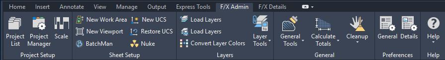F/x Admin Ribbon Change
