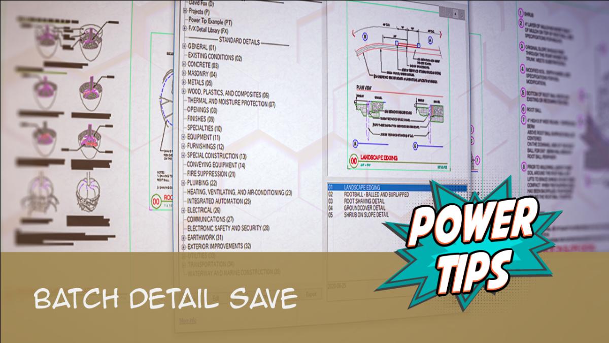 Power Tip - Batch Detail Save