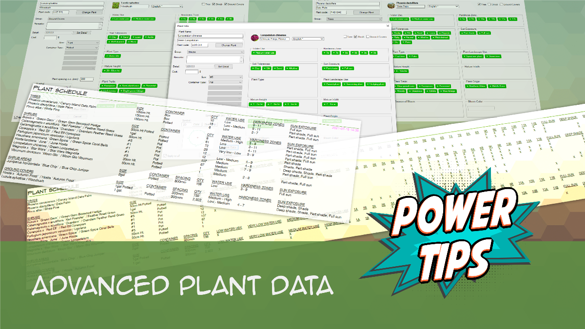 POWER TIP: Advanced Plant Data