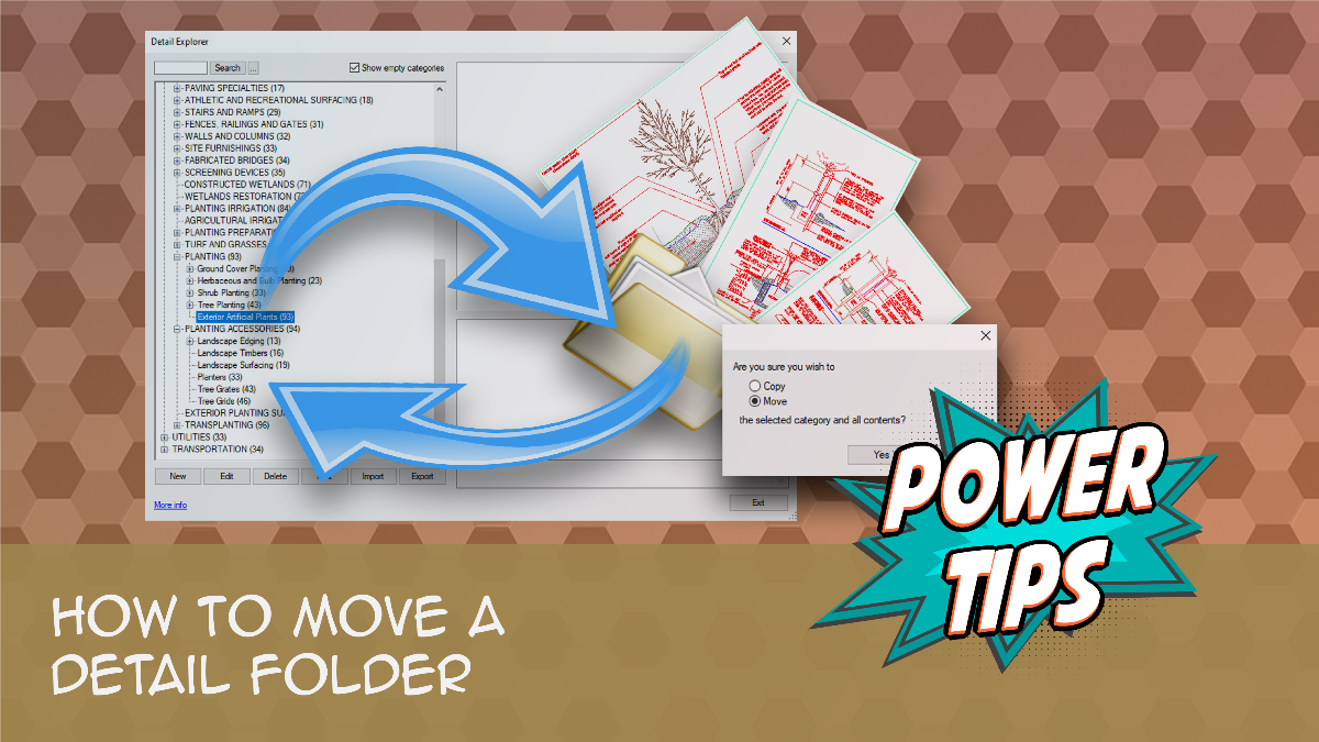 POWER TIP: How To Move a Detail Folder