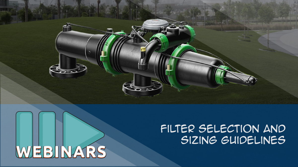 GUEST WEBINAR:Filter Selection and Sizing Guidelines