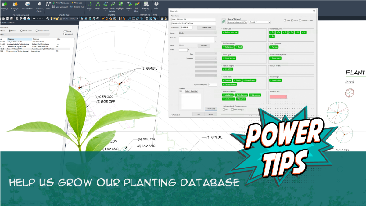 POWER TIP: Help Us Grow Our Plant Database