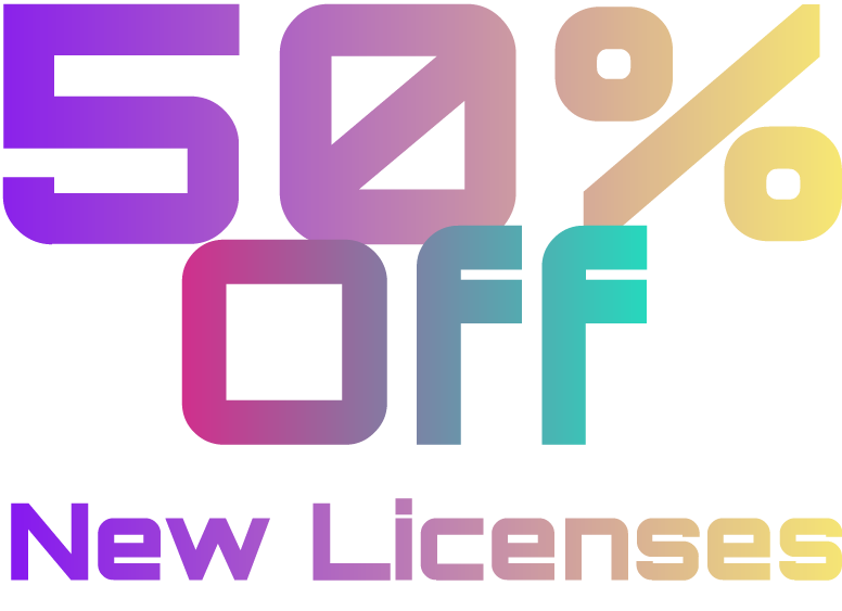 50% Off New Licenses October 26-30
