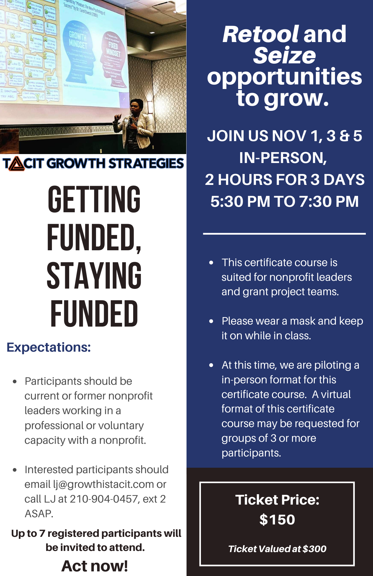 Getting Funded, Staying Funded by Tacit Growth Strategies