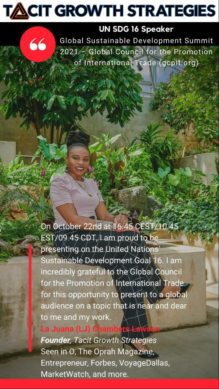 LJ UN SDG 16 Speaker at GCPIT