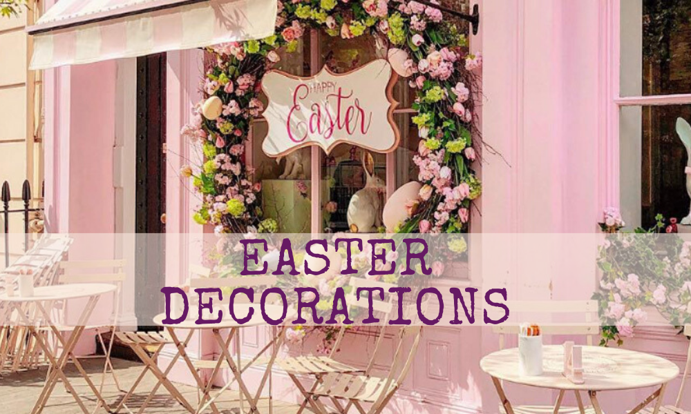 easter decor, easter 2020, decorations, pink