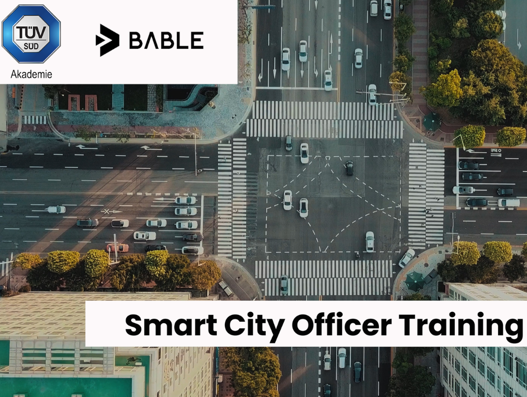 An intersection from above - Smart City Officer Training