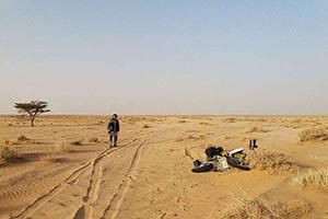 Motorcycle Mauritania Railway