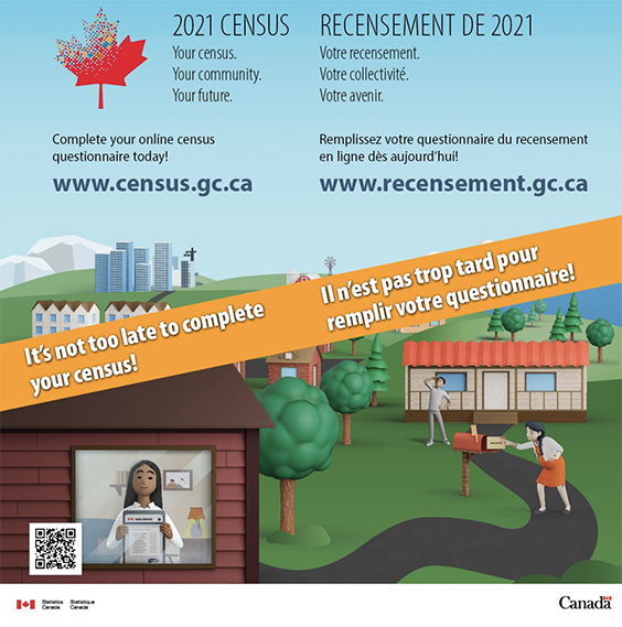 Flyer of Census Canada