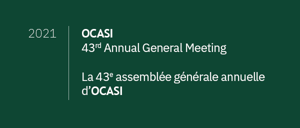 Banner of the OCASI 43 edition of the Annual General Meeting